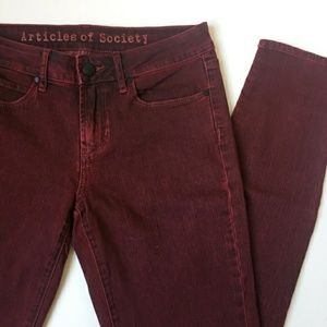 Articles of Society Mya Rich Red Jeans Size 28